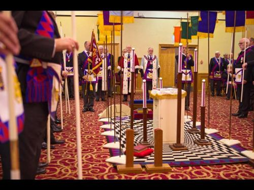 The ME Grand Superintendent enters Provincial Grand Chapter